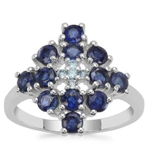 Nilamani Ring with Swiss Blue Topaz in Sterling Silver 2.27cts