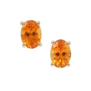 Mandarin Garnet Earrings in 9K Gold 2.08cts