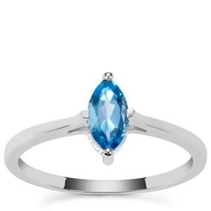 Swiss Blue Topaz Ring in Sterling Silver 0.58ct