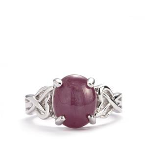 5.78ct Madagascan Star Ruby Sterling Silver Ring (F)