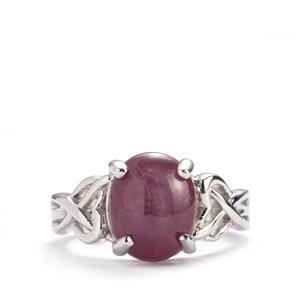 Madagascan Star Ruby Ring in Sterling Silver 5.78cts (F)