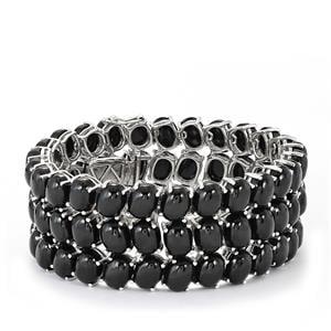 246ct Black Spinel Sterling Silver Bracelet