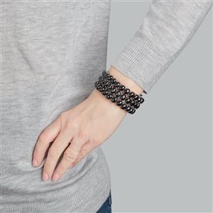 Black Spinel Bracelet in Sterling Silver 246cts