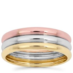 Ring in 9K Three Tone Gold