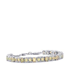 Ethiopian Opal Bracelet  in Sterling Silver 4.70cts