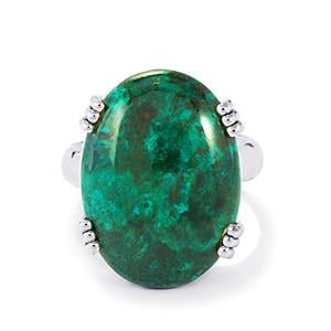 19ct Chrysocolla Sterling Silver Aryonna Ring
