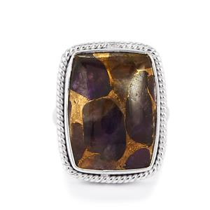 15ct Copper Mojave Amethyst Sterling Silver Aryonna Ring