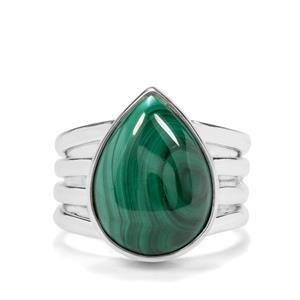 12.50ct Malachite Sterling Silver Aryonna Cuff Ring