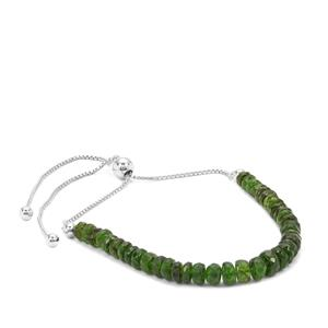 Chrome Diopside Graduated Inspired By Colour Slider Bracelet in Sterling Silver 17cts