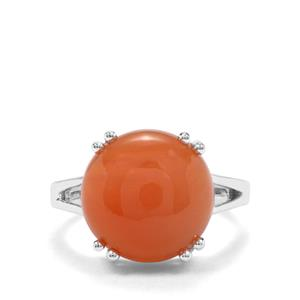 7.63ct Botswana Agate Sterling Silver Aryonna Ring