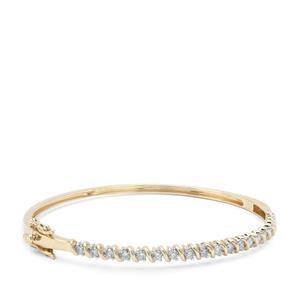 Argyle Diamond Bangle in 9K Gold 1cts