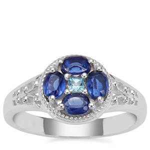 Nilamani Ring with Swiss Blue Topaz in Sterling Silver 1.05cts
