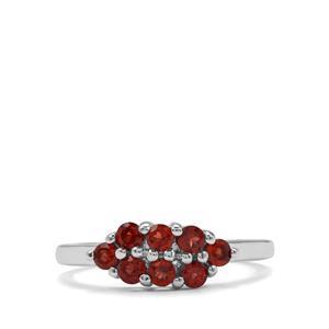 0.78ct Rhodolite Garnet Sterling Silver Ring