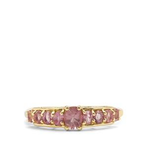 1.06ct Padparadscha Sapphire 9K Gold Ring