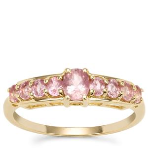 Padparadscha Sapphire Ring in 9K Gold 1.06cts