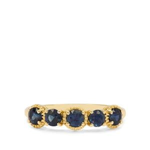 Australian Blue Sapphire Ring in 9K Gold 1.05cts