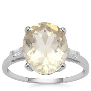 Serenite Ring with White Zircon in 9K White Gold 4.21cts