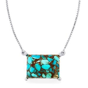 12.79ct Egyptian Turquoise Sterling Silver Necklace