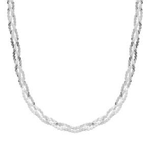 "36"" Sterling Silver Dettaglio Diamond Cut Braided Serpentina Chain 4.62g"