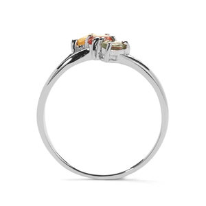 Multi-Colour Sapphire Ring in Sterling Silver 0.62ct