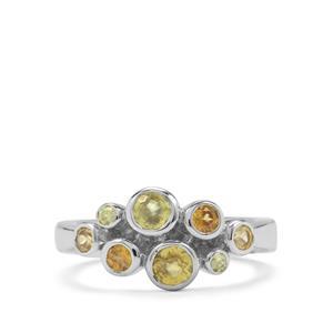 1.15ct Morafeno & Ambilobe Sphene Sterling Silver Ring
