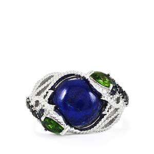 Kaleidoscope Gemstones Ring in Sterling Silver 8.47cts