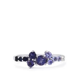 0.87ct Kaleidoscope Gemstones Sterling Silver Essencia Ring