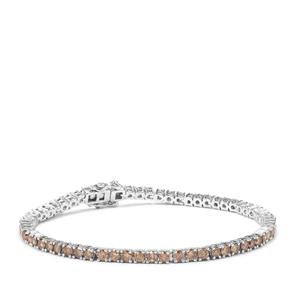 Champagne Diamond Bracelet in Sterling Silver 5.50ct