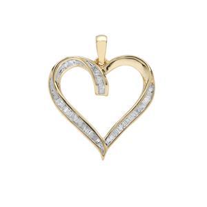 1/4ct Diamond 9K Gold Heart Pendant