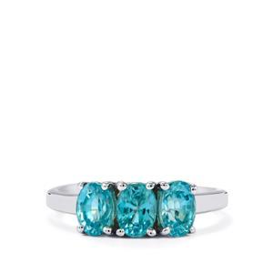 2.77ct Ratanakiri Blue Zircon Sterling Silver Ring