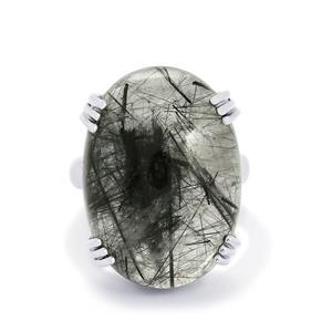 27.50ct Tourmalinated Quartz Sterling Silver Aryonna Ring