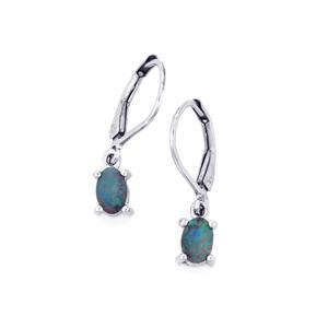 Crystal Opal on Ironstone Earrings in Sterling Silver