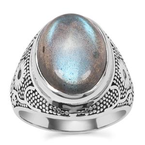 Labradorite Ring in Sterling Silver 8.05cts