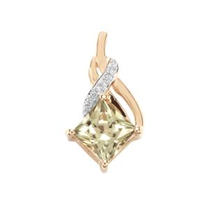 Csarite® Pendant with Diamond in 10K Gold 1.23cts