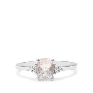 Itinga Petalite & White Zircon Sterling Silver Ring ATGW 1.10cts