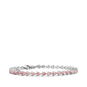 4.80ct Kaffe Tourmaline Sterling Silver Bracelet