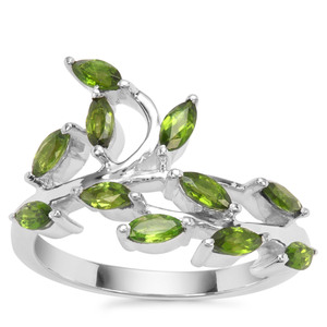 Chrome Diopside Ring in Sterling Silver 0.98ct