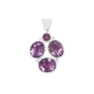 Bahia Amethyst Pendant in Sterling Silver 11cts
