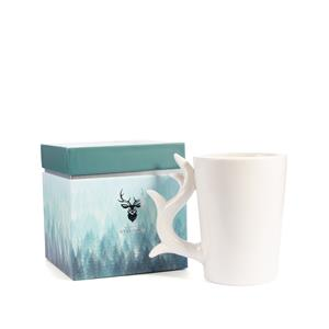 Stag Candle Mug, Winter Spice Fragrance with Petrified Wood ATGW 50cts