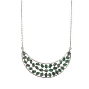 9.40ct Itabira Emerald Sterling Silver Aryonna Necklace