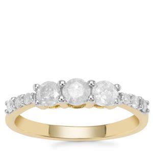 Diamond Ring in 9K Gold 0.79ct