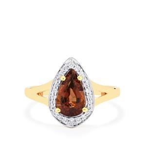 Colour Change Garnet & Diamond 18K Gold Tomas Rae Ring MTGW 2.25cts