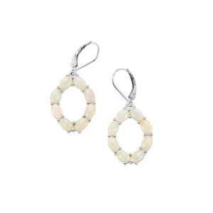 Coober Pedy Opal Earrings in Sterling Silver 4.10cts