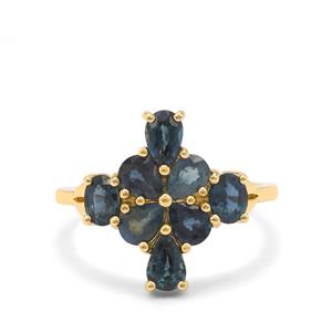 Nigerian Blue Sapphire Ring in 9K Gold 2.55cts