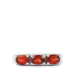 1.76ct Rhodolite Garnet Sterling Silver Ring