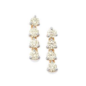 1.50ct Natural Yellow Diamond 18K Gold Tomas Rae Earrings