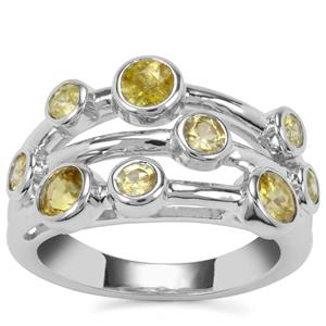 Ambilobe Sphene Ring in Sterling Silver 1.72cts