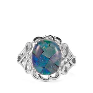 Mosaic Opal Sterling Silver Ring (12 x 10mm)