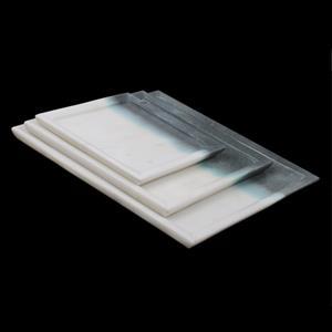 Set of 3 Plain Platter made of Banswara Marble (Color Theme White & Granite)