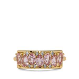 Cherry Blossom™ Morganite & Diamond 9K Gold Ring ATGW 1.30cts